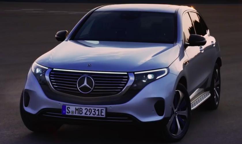 De Mercedes Benz EQC.